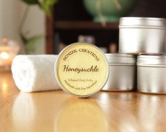 Honeysuckle Whipped Body Butter, Lotion, Gift for Her, Spa Set, Shea Butter, Body Whip, Cocoa Butter, Handmade Lotion, Made in Michigan
