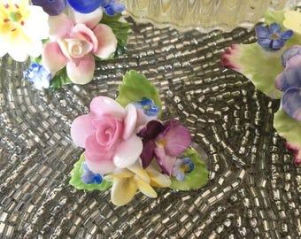 Vintage Coalport Fine Bone China Floral Brooch