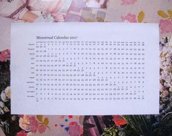 "Menstrual Calendar 2018 - Printable Calendar approx. 8.5x5"""