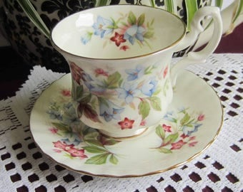 Royal Albert BOURTON from the Summertime Series - Bone China Demi Tasse Tea Cup and Saucer