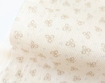 Flower Fabric,Small White Flower Cotton Fabric, Cute Fabric of 100% Cotton Fabric Fat Quarter, half yard, yard.