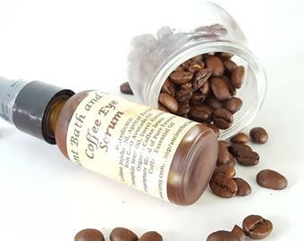 Coffee Anti-Aging Eye Serum, Anti-Oxidant Eye Serum, Reduces Puffy Eyes and Dark Circles