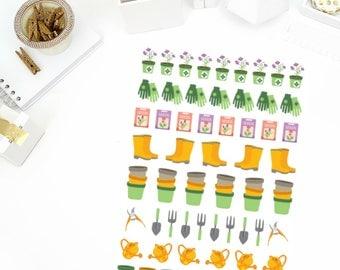 Gardening Stickers! Perfect for your Erin Condren Life Planner, calendar, Paper Plum, Filofax!