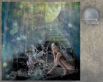 Digital Fine Art Print Spider Woman In Waiting