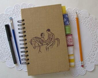 junk journal, dream journal, bullet journal, smash book - vintage hardcover horse book journal - travel junk journal