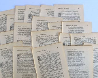 1925 antique Bible pages, hymnal sheet music for paper crafting, junk journals, smash books, scrapbooking and collage