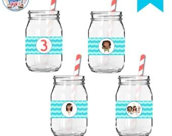 Moana Waterbottle Labels, Editable Moana Waterbottle Labels , Moana Birthday, Moana Party, Moana Party Bottle Wrappers