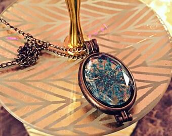 Blue Queen Anne's Lace Pendant