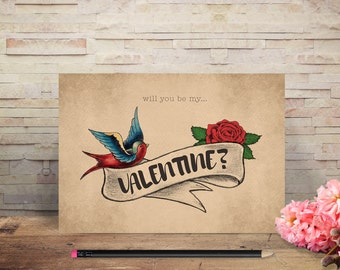 Tattoo Greetings Cards – Valentine / Birthday / Thank You / New Home / Wedding Anniversary