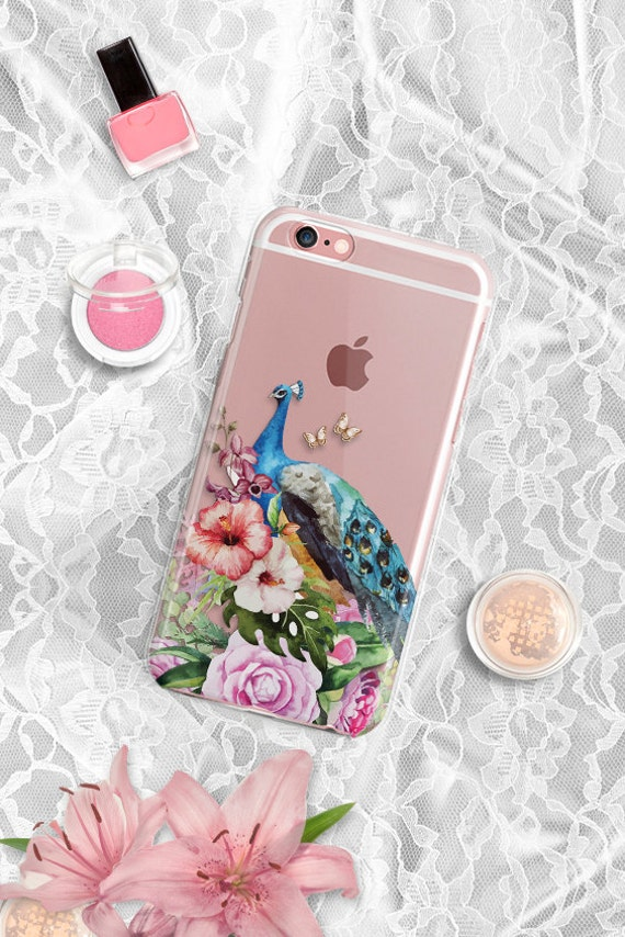 iPhone 7 Plus case Clear Peacock iphone 7 case  Rubber Samsung Galaxy S7 case Clear iPhone 6s Case Rubber Silver iPhone 6s Plus case TPU