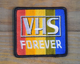 VHS Forever Embroidered Patch