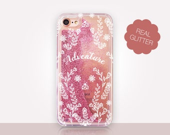 Adventure Glitter Phone Case Clear Case For iPhone 8 iPhone 8 Plus - iPhone X - iPhone 7 Plus - iPhone 6 - iPhone 6S - iPhone SE  iPhone 5