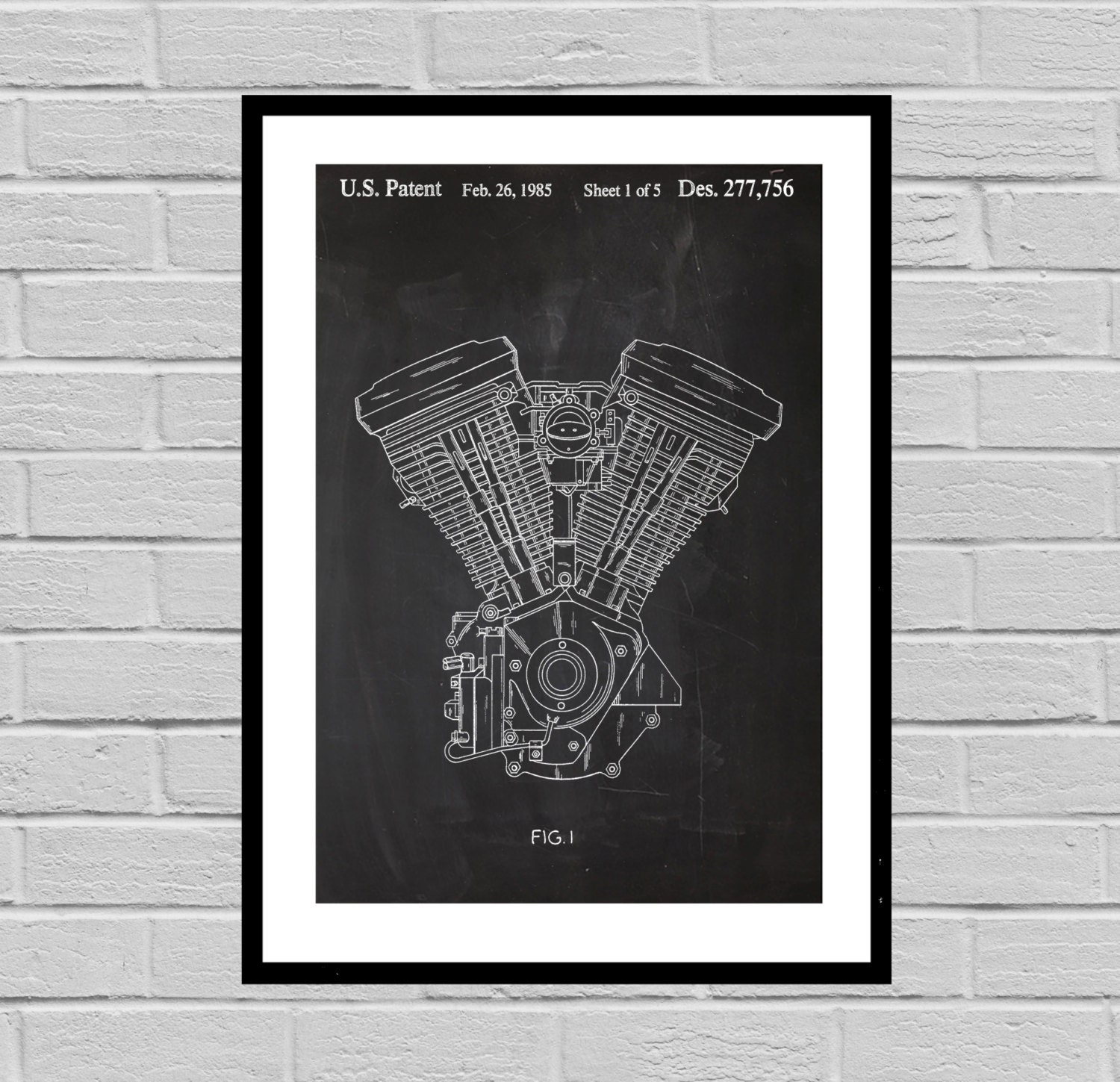 Harley davidson motorcycle blueprint patent poster wall art harley davidson motorcycle blueprint patent poster wall art poster harley motorcycle print wall art poster patentprints harley art malvernweather Choice Image
