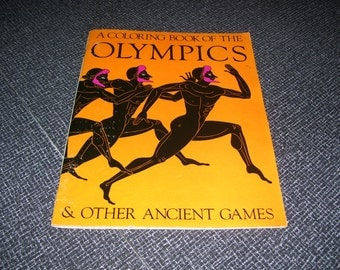 A Coloring Book of the Olympics, Adult Coloring Book, 1983 Vintage