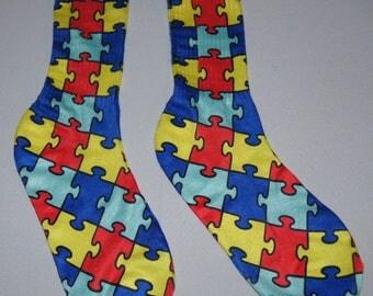 Autism Crew Socks Adult