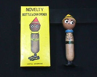 Vintage 1960's Novelty Bar Top Bottle & Can Opener in it's Original Box