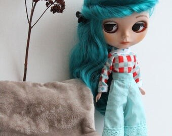 Clothing (pants, shirt). Clothes (blouse, trouser) for doll/dolls Blythe, Tangkou, Pullip, Licca, Momoko