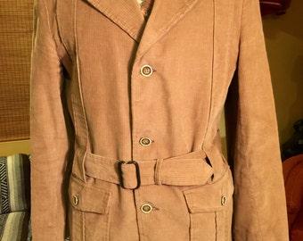 Vintage Men's Tan Corduroy Jacket