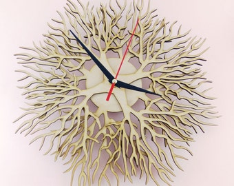 "Wooden wall clock ""TREES"""