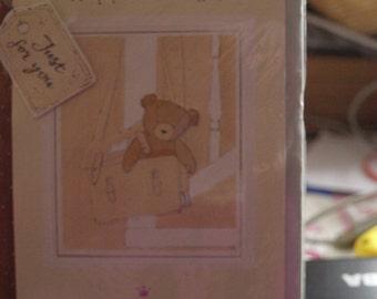 Happy Birthday  Teddy in a School Bag  Birthday Card