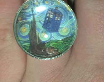 Doctor Who Art Adjustable Ring unique Fashion Jewelry
