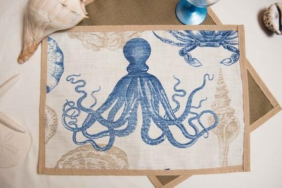Indoor / Outdoor Handmade Sea Life Placemat Set
