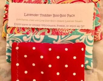 Toddler's Lavender boo-boo packs/ mini hot &cold packs set