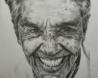Graphite Portrait of Chavela Vargas