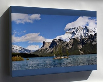 Canvas 24x36; Lake Minnewanka, Banff National Park, Canada