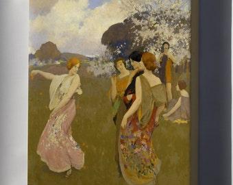 Canvas 24x36; Arthur F. Mathews - Spring Dance -