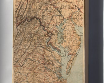 Canvas 24x36; Map Of Eastern Virginia 1863