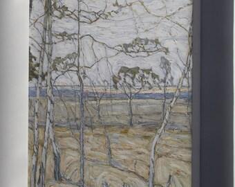 Canvas 24x36; Abraham Manievich Birch Trees