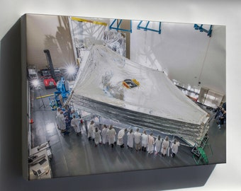 Canvas 24x36; Sunshield On Nasa James Webb Space Telescope