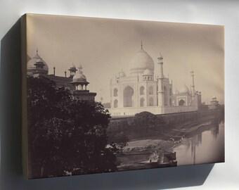 Canvas 24x36; Taj Mahal, Agra, India 1870