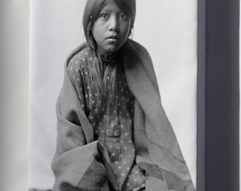 Canvas 24x36; Taos Girl Native American Indian By Edward S. Curtis 1905