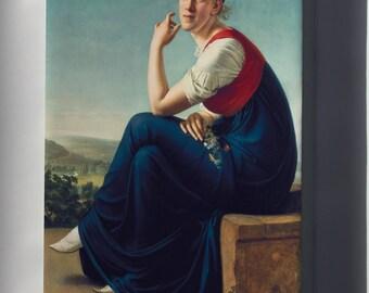 Canvas 24x36; Portrait Of Heinrike Dannecker Christian Gottlieb Schick
