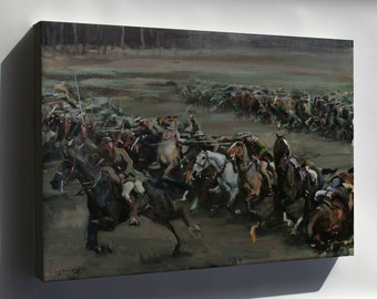 Canvas 24x36; Alfred Munnings Charge Of Flowerdew'S Squadron