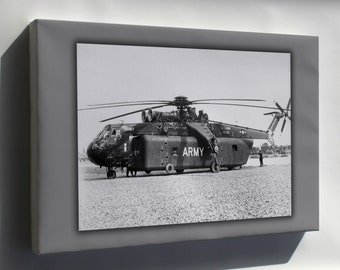 Canvas 24x36; U.S. Army Sikorsky Ych-54A Ch-54 Tarhe Helicopter Vietnam War 1966