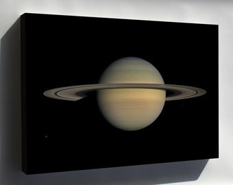Canvas 16x24; Saturn During Equinox Taken By Cassini