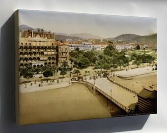 Canvas 16x24; Hotel Des Anglais, Nice, France, 1890S