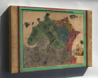 Canvas 16x24; Map Of Rio De Janeiro Brazil 1831
