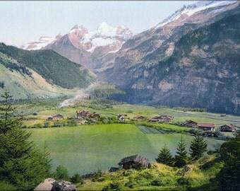 16x24 Poster; Kandersteg Um 1900 Switzerland Photochrom