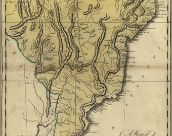 16x24 Poster; Map Of Brazil, Or New Portugal 1814 P2