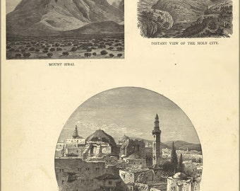 16x24 Poster; View Of Mount Sinai Holy Sepulchre Jerusalem 1881