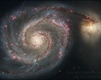 16x24 Poster; Whirlpool Galaxy (Spiral Galaxy M51