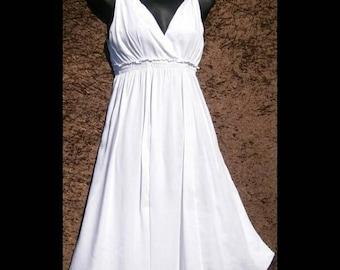 Sun dress / white dress/ cover-up/ resort wear /beach wear/Hippy/festival/swim wear/ resort wear/dress