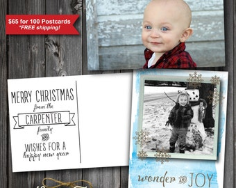Photo Christmas Postcards (100)