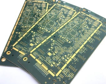 ONE Heavily Gold Plated Reclaimed Recycled Circuit Board Bare Breadboard, Wholesale Bulk Computer Parts for Upcycling Craft Supplies