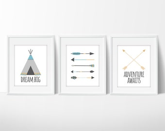 Adventure Nursery | Nursery Decor | Woodland Nursery | Travel Nursery | Adventure Awaits | Arrow Nursery Decor | Dream Big | Arrow Nursery
