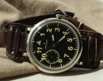 Vintage Rare Pilot/Aviator Wrist Watch mechanical cal. 3602 Russian Soviet